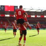 Photo of Provider Danny Ings celebrates with first goalscorer James Ward-Prowse