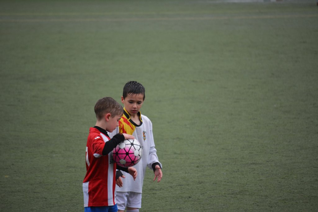 Photo of two young players
