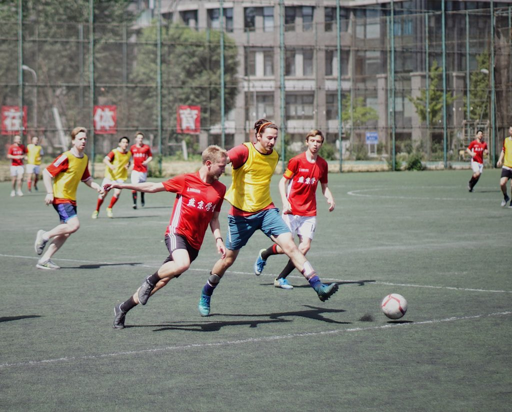 Photo of people playing soccer