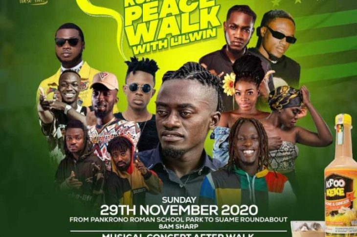 Lilwin to lead peace walk in Kumasi ahead of elections