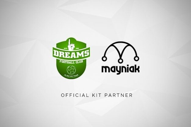 Mayniak Sports Wear is the official kit partner for Dreams FC
