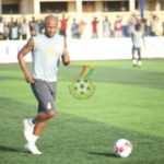 Pictures of Black Stars players training at the McDan La Town Park