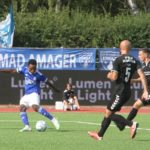 Emmanuel Toku scores for Fremad Amager in the Danish Cup
