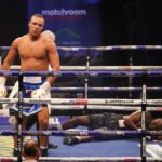 Richard Lartey knocked out by Fabio Wardley in round two
