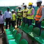 Pictures of new seats at the Baba Yara Sports Stadium