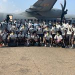 Pictures of Black Satellites leaving Accra for WAFU Cup of Nations