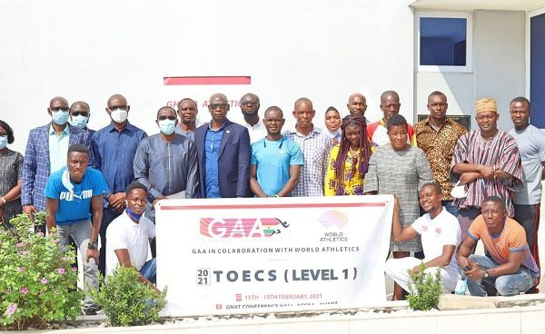 24 officials trained by Ghana Athletics Association and World Athletics