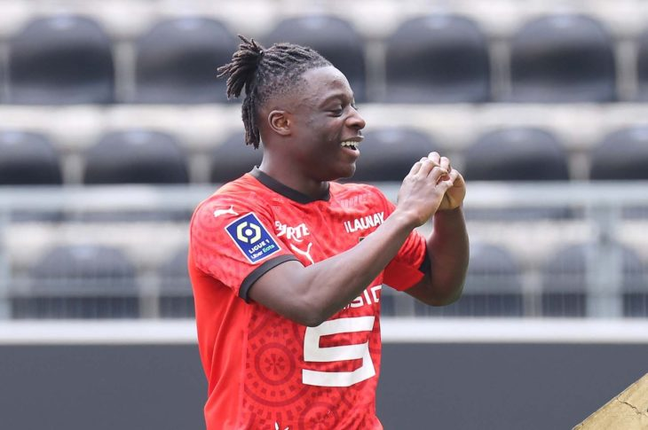 Forward Jeremy Doku Scores For Rennes At Angers