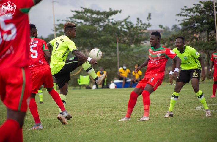 Late Abednego Header Gives Dreams FC Slim Win Against Karela United