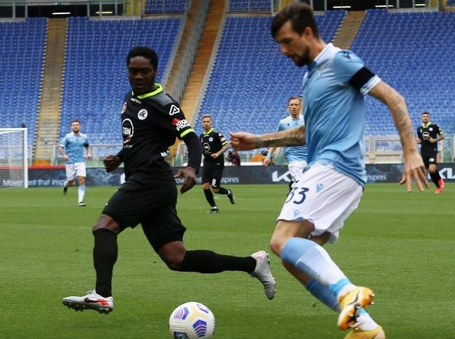 Watch Emmanuel Gyasi's Assist For Spezia At Lazio