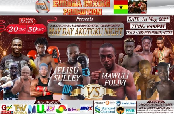 Euroka Boxing Promotions 'May Day Akotoku' Coming On At Lebanon House