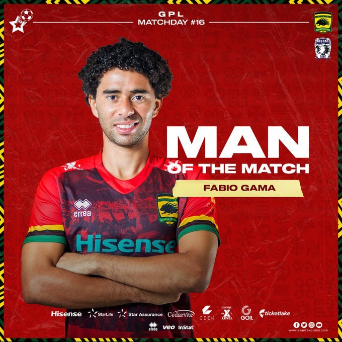 Fabio Gama Named Man Of The Match In Kotoko's Victory Against Bechem United