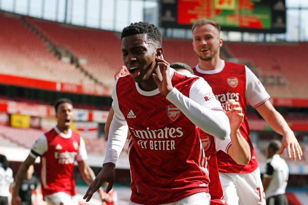 Eddie Nketiah Scores Late Goal To Rescue Arsenal At Fulham